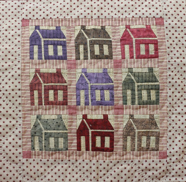 School house Mini Patchwork Quilt