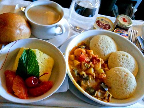 Air France - Hindu vegetarian breakfast