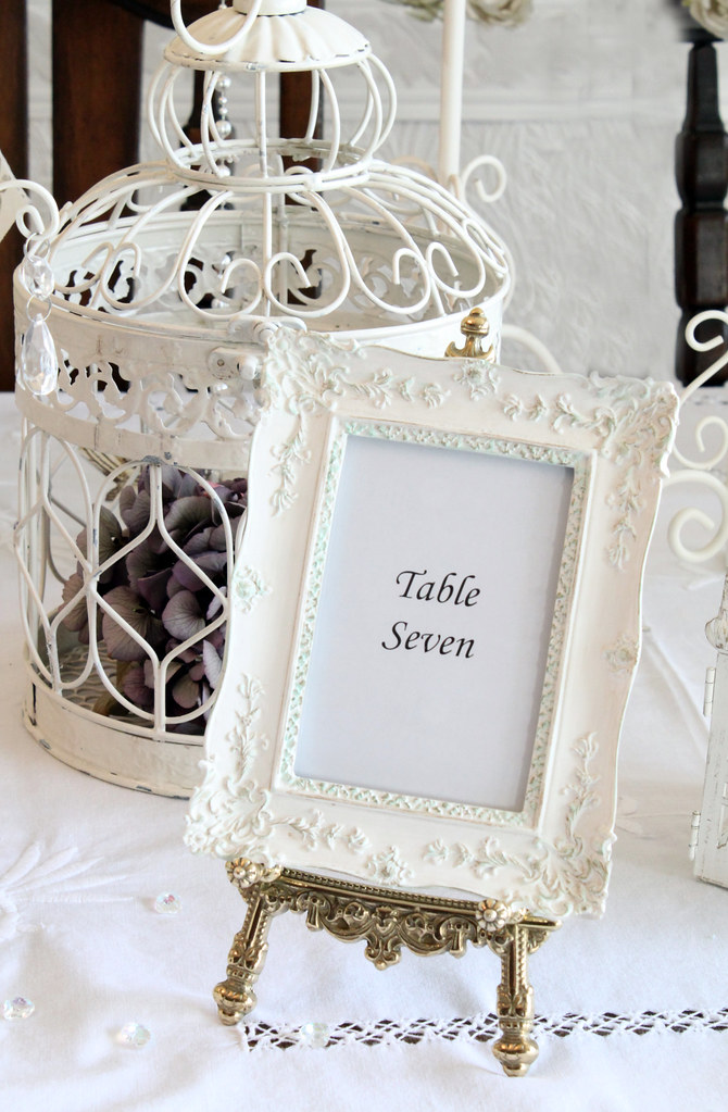 Old Fashioned Gold Picture Frames For Wedding Table Numbers Crest ...