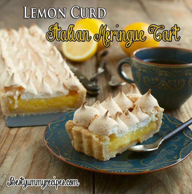 Lemon Curd Italian Meringue Tart - All food Recipes