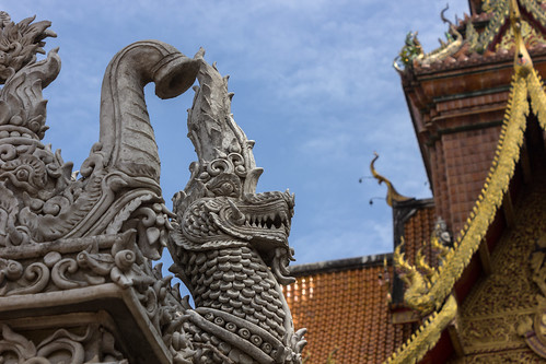 Temple Dragon with Clouds