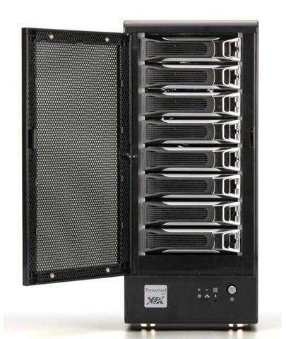 via nsd 7800 8 bay network storage home server system. Black Bedroom Furniture Sets. Home Design Ideas