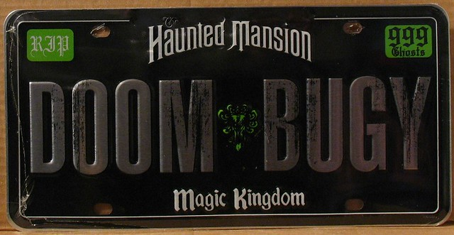 Rare Disney Haunted Mansion Doom Bugy License Plate