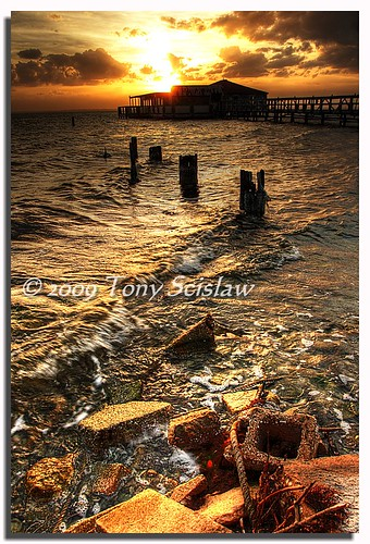 county sunset beach river florida lagoon banana cocoa hdr brevard