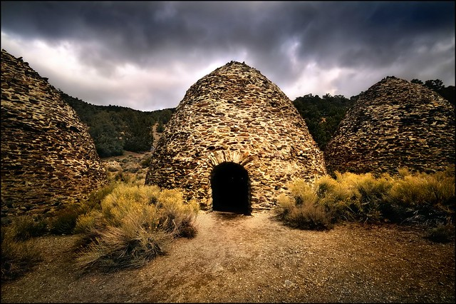 at the charcoal kilns, death valley