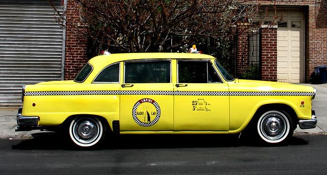 Vintage yellow cab logo