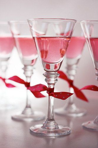 Pink Martinis... All in a Row!