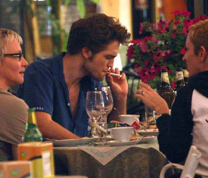 Robert Pattinson Candids on Exclusive  Robert Pattinson   Kristen Stewart Hang Out In Italy Before