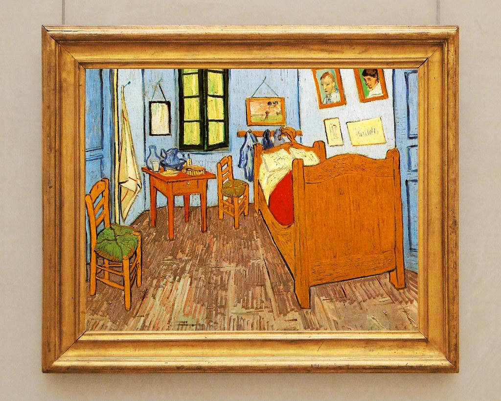 Painting la chambre de van gogh arles van gogh 39 s bedr for Chambre van gogh