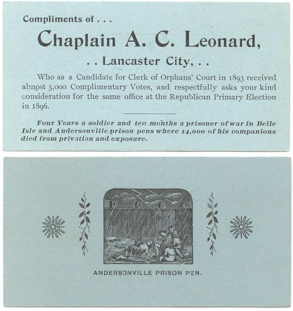 Compliments of Chaplain A. C. Leonard