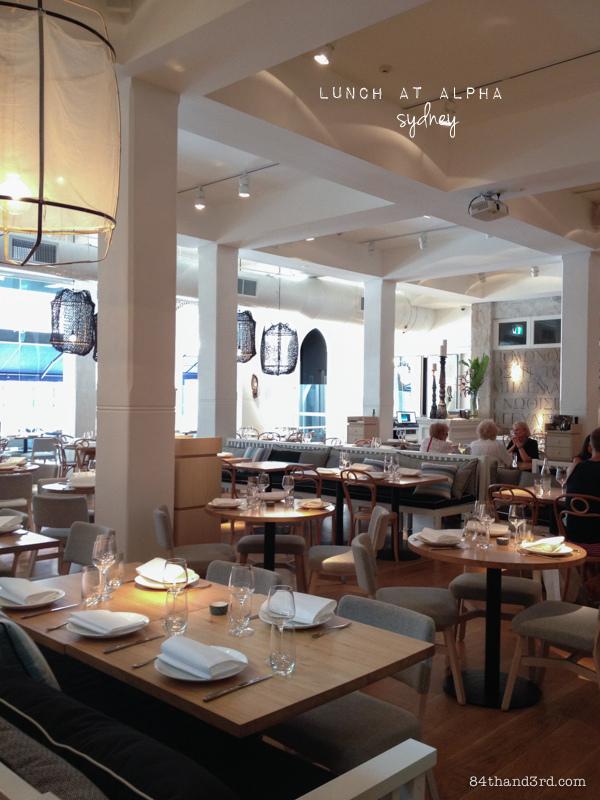Alpha Restaurant - Sydney CBD