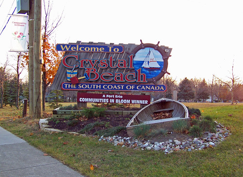 Crystal Beach Sign by Eva Pawson