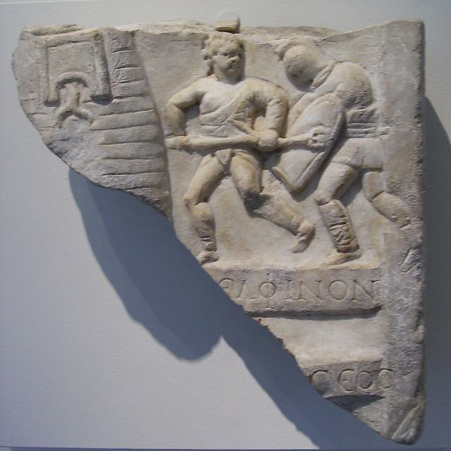 Gladiator Stone Relief A Gallery On Flickr