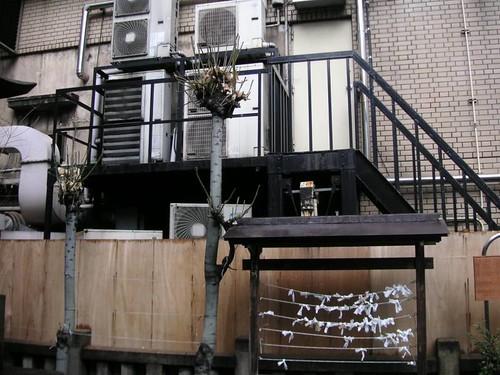Shrine and back sides of buildings (Shinagawa)