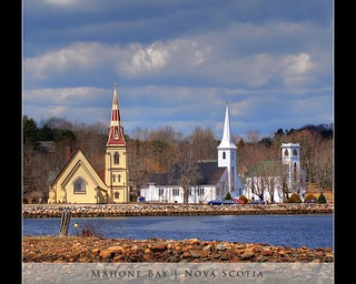 The Three Churches of Mahone Bay