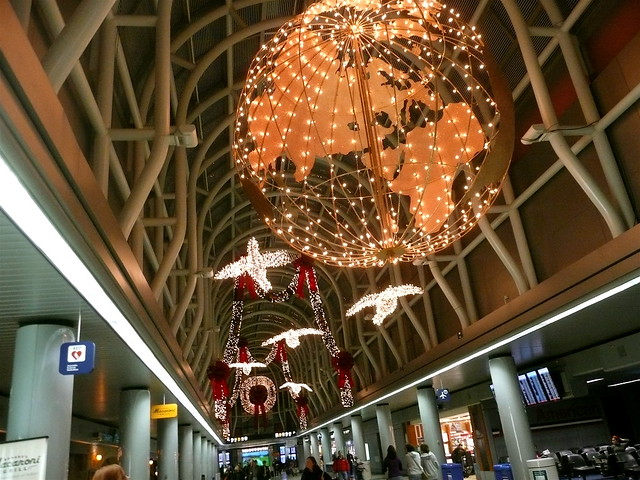 Christmas at Chicago Airport Terminal 3