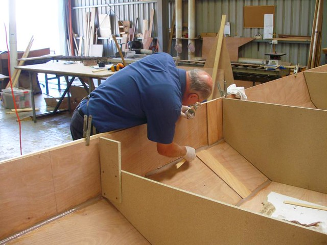 Building a boat at home - xxxx castlemaine beer boat building