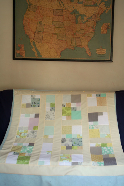 low volume quilt - all pieced