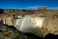 Day 109 Rainbow at Shoshone Falls