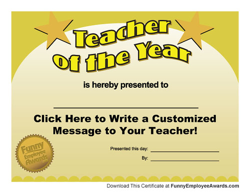 Free teacher of the year award certificate template a photo on free teacher of the year award certificate template yadclub Gallery