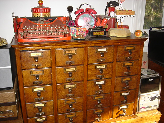 CARD FILE CABINET | REPRODUCTION ANTIQUE FURNTIURE