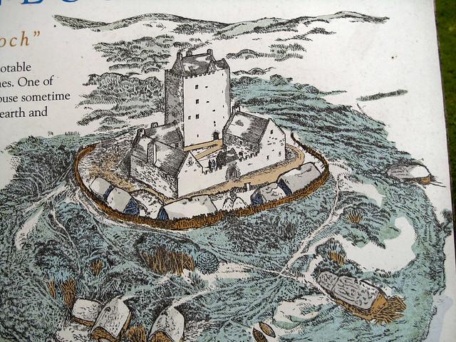 Cardoness Castle (3 of 14) Information sign