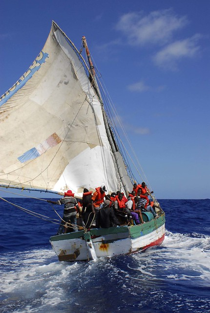 Typical Haitian Sail Freighter
