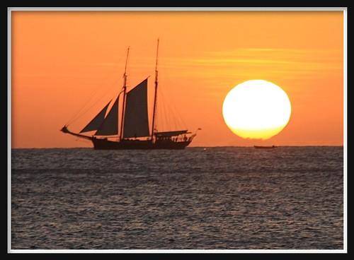 sunset seychelles mahe