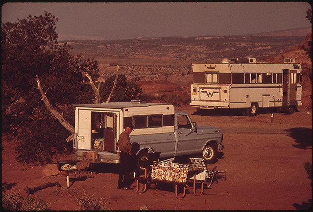 Campground in Arches National Park, 05/1972