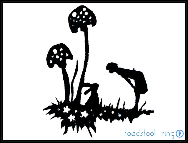 mushroom bunny scherenschnitte