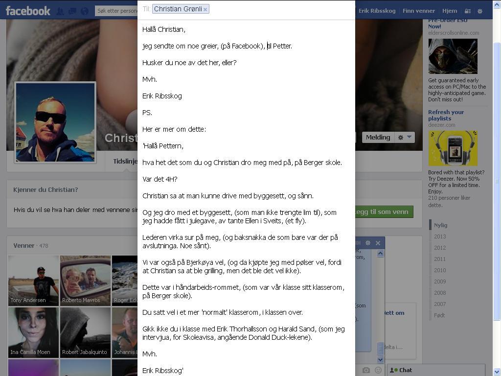 christian grønli facebook