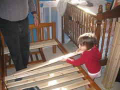 Building Bunkbeds with Papa