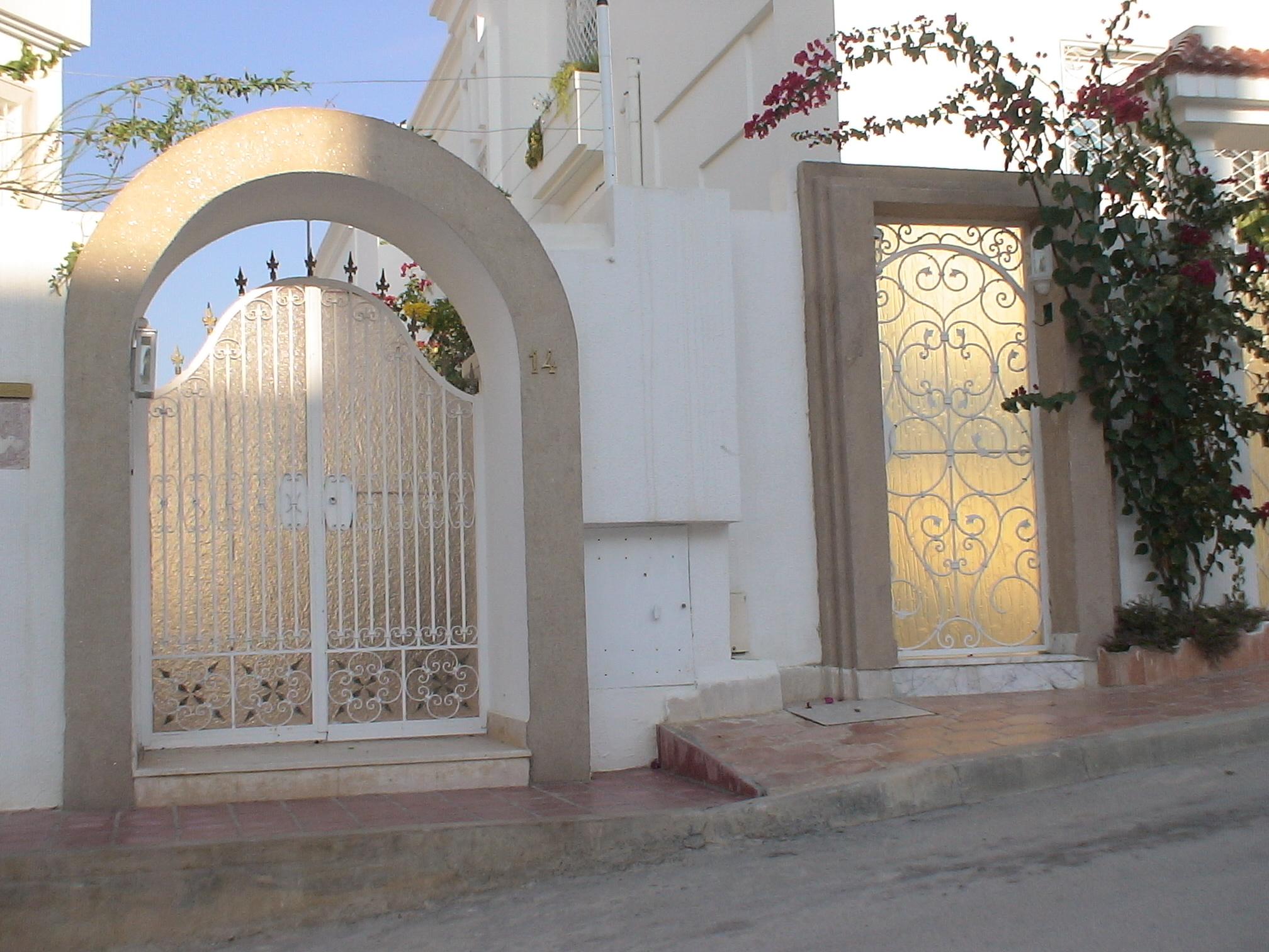 Porte ext rieure en fer forg tunis maisons by for Porte fer forge en tunisie