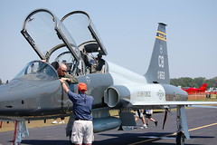 aviation, airplane, vehicle, fighter aircraft, northrop t-38 talon, jet aircraft, air force,