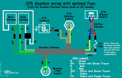 MGB Overdrive - wiring diagram (with fuse)