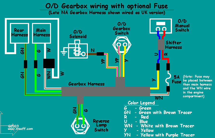 Mgb Overdrive - Wiring Diagram  With Fuse