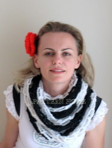 Steampunk Rose Scarf - Crochet Me
