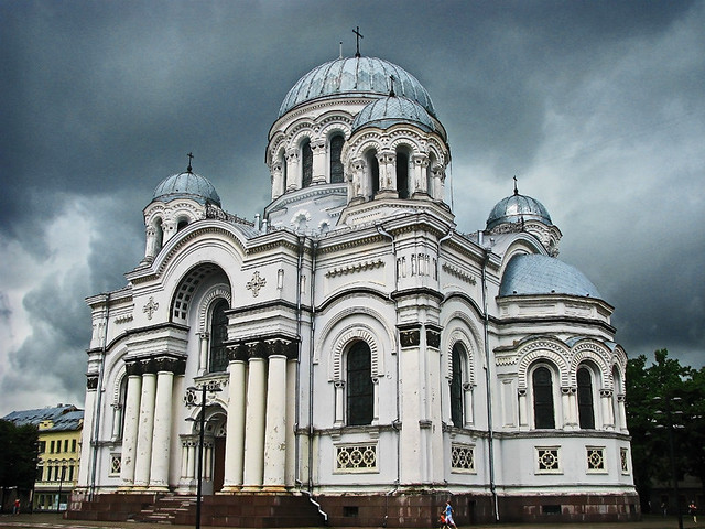 Kaunas before the rain - St. Michael the Archangel's Church