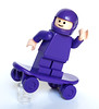 Purple skateboard