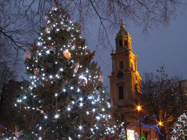 Holiday Tree in Cathedral Square