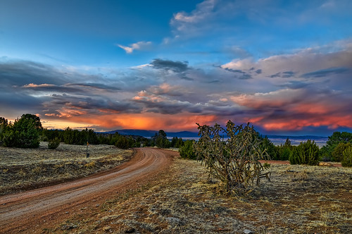road sunset sky nature rural landscape florence nikon bravo colorado searchthebest bend dusk vivid tokina dirt co prairie curve grassland seco 2009 hdr grasslands cholla d300 1116 wetmountains clff visiongroup theperfectphotographer
