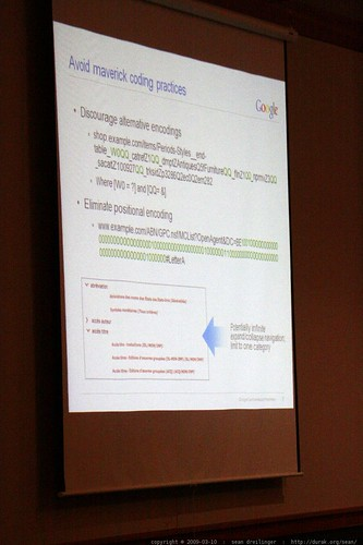 slide: avoid maverick coding practices   on site insight! technical seo advice from the pros   sempdx searchfest 2009    MG 9358