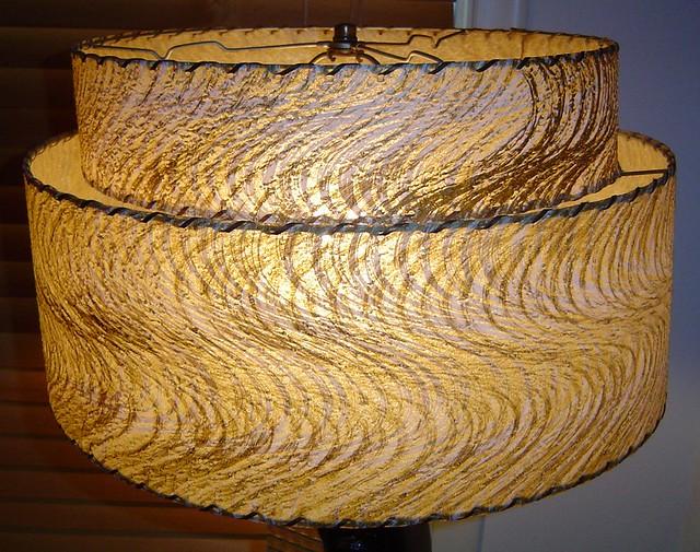 Reglor of Calif. 1951 Lamp - Shade Closeup lit