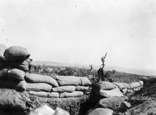 View of a fire trench, Gallipoli, Turkey, 1915