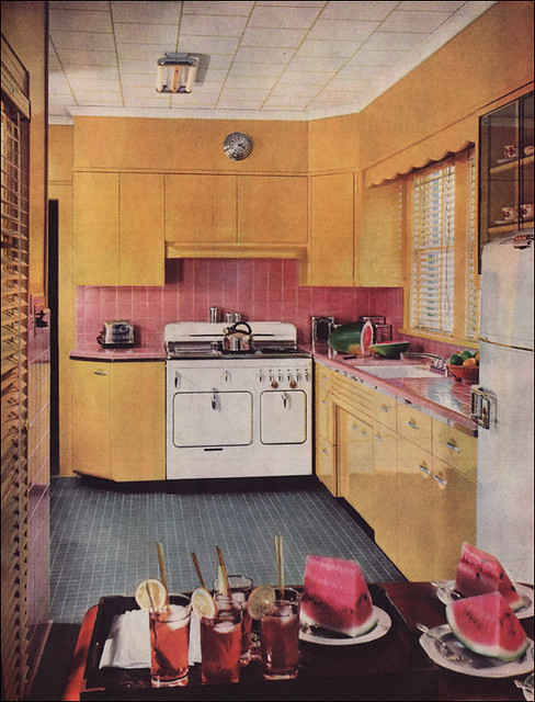 1950s Kitchen Design With A Chambers Range Flickr