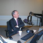 New York City Mayor Michael Bloomberg in Air America Studios