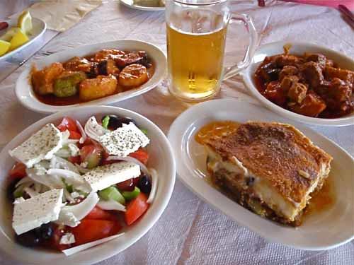 Greek food santorini greece flickr photo sharing for About greek cuisine