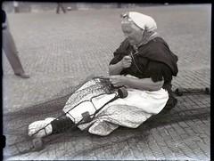 Scheveningen, netten boeten, ca 1950-1955