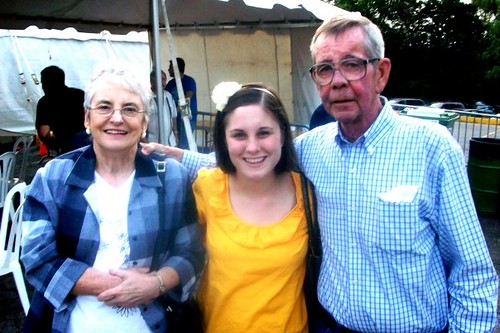 With my grandparents at a Greek Festival