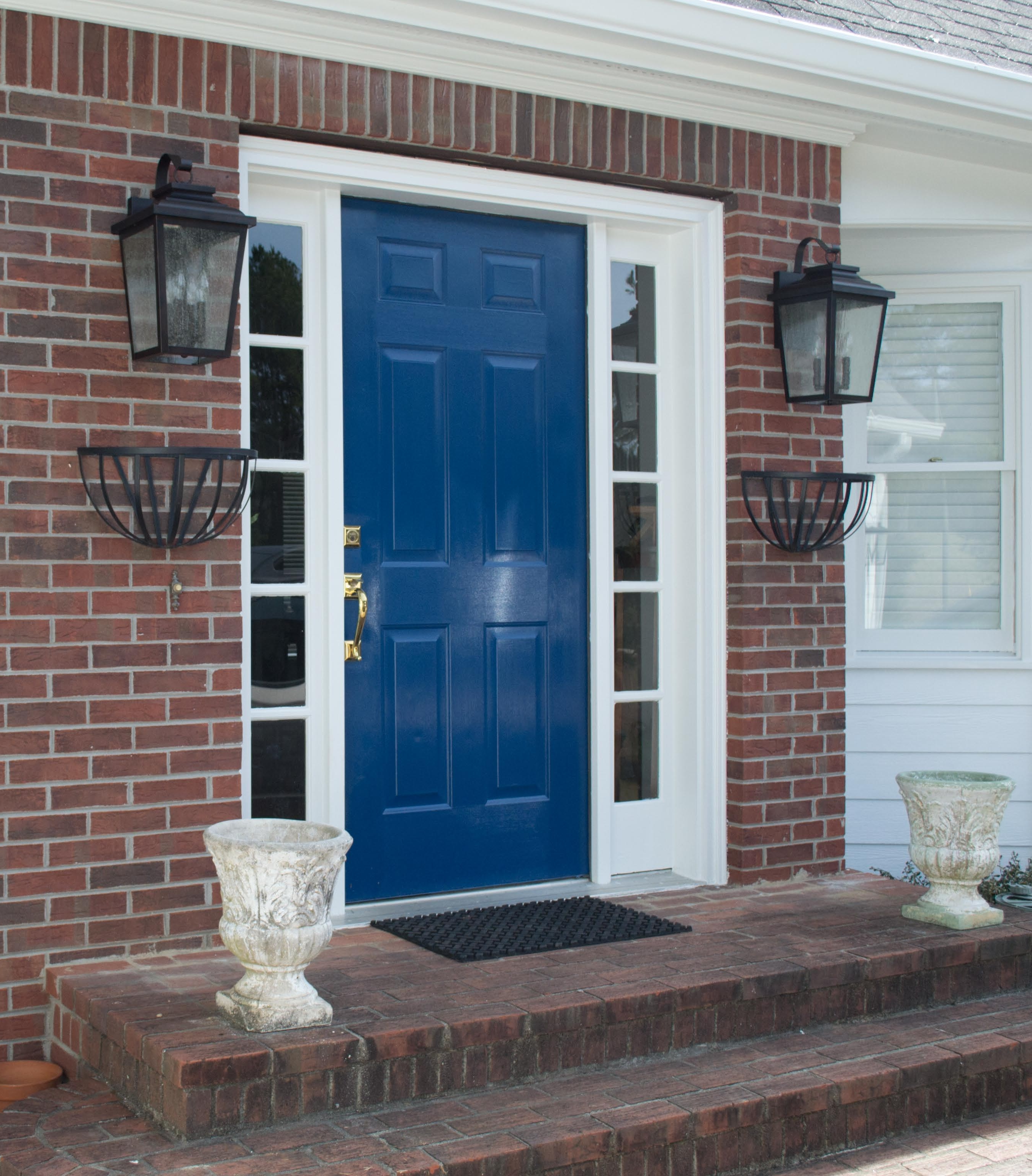 front door painted in sherwin williams loyal blue